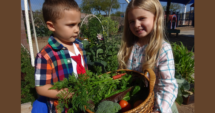 Outdoor classroom is fertile ground for learning