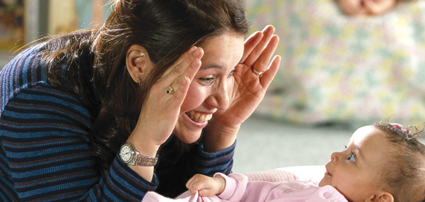 Laying the foundation for math with infants and toddlers